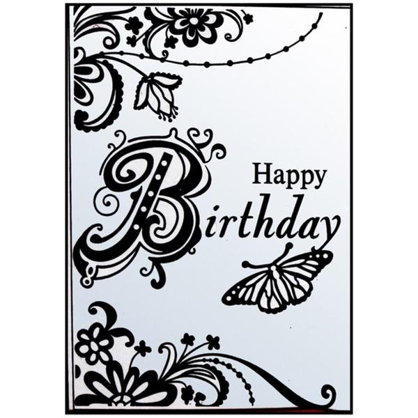 "Crafts-Too Embossing Folder 4""X6""-Happy Birthday"