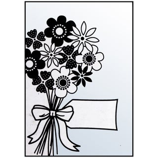 "Crafts-Too Embossing Folder 4""X6""-Flowers Bouquet/Tag"