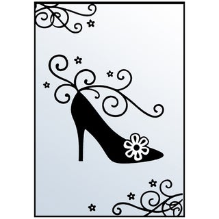 "Crafts-Too Embossing Folder 4""X6""-Shoe/Flourish"