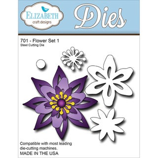 Elizabeth Craft Metal Die-Flower Set 1