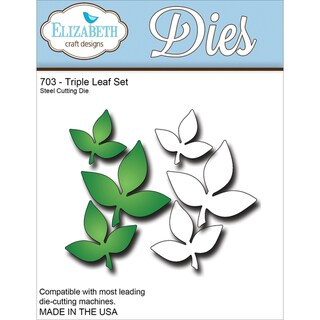 Elizabeth Craft Metal Die-Triple Leaf Set