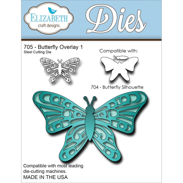 Elizabeth Craft Metal Die-Butterfly Overlay 1