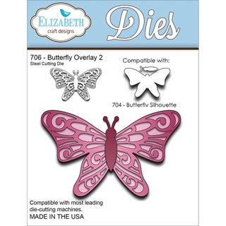 Elizabeth Craft Metal Die-Butterfly Overlay 2