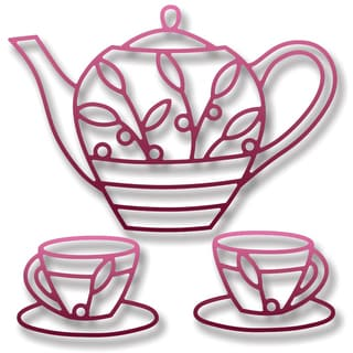 Elizabeth Craft Metal Die-Teapot & Cups