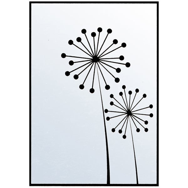 "Nellie Snellen Embossing Folder 4""X6""-Ball Flowers"