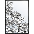 "Nellie Snellen Embossing Folder 4""X6""-Flower Corner 1"