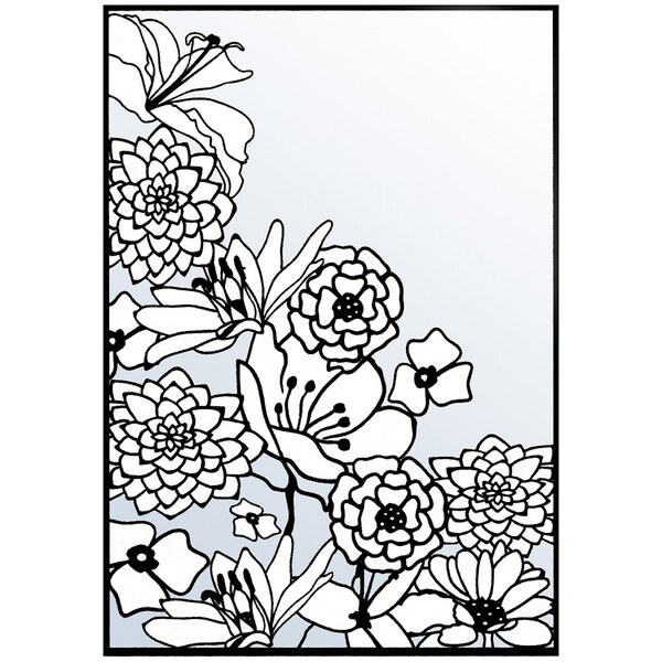 "Nellie Snellen Embossing Folder 4""X6""-Flower Corner 1"