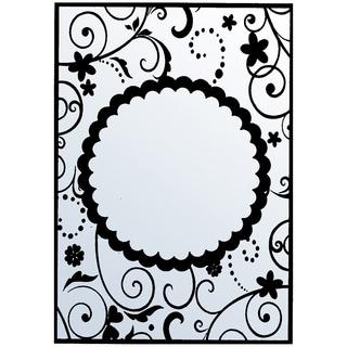 """Nellie Snellen Embossing Folder 4""""X6""""-Round Karen Frame"""