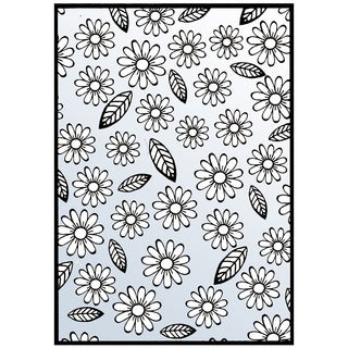 "Nellie Snellen Embossing Folder 4""X6""-Flowers & Leaves"