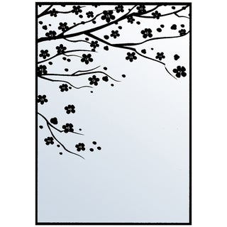 "Nellie Snellen Embossing Folder 4""X6""-Cherry Blossom"
