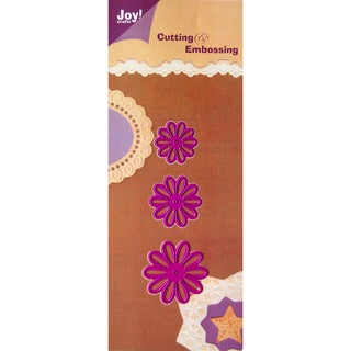 Joy! Craft Cut & Emboss Dies-3 Daisies