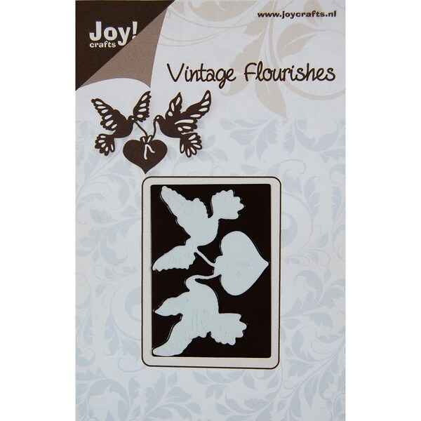 Joy! Craft Dies-Vintage Flourishes - Doves & Hearts