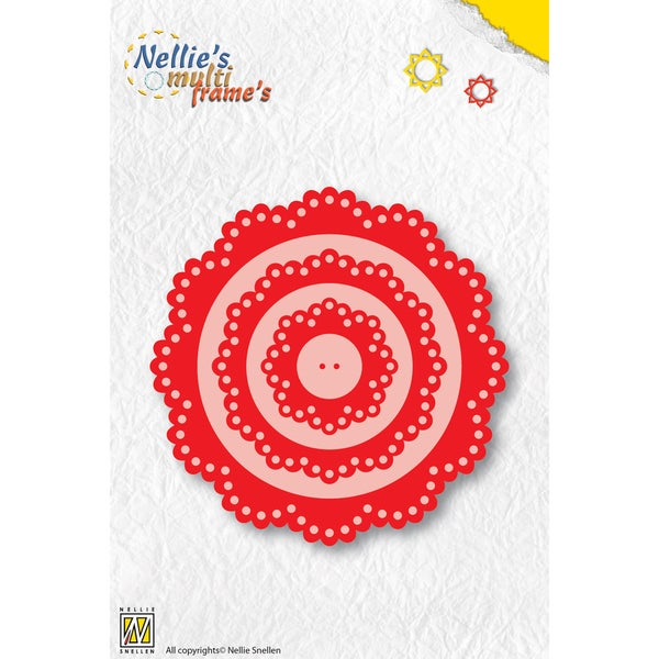 Nellie's Choice Multi Frame Dies-Flower, 4/Pkg