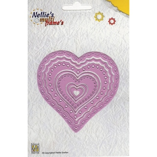 Nellie's Choice Multi Frame Dies-Heart 2, 7/Pkg