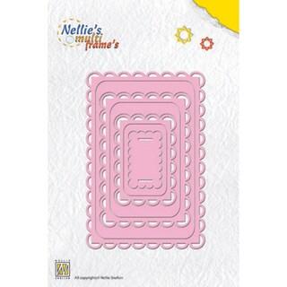 Nellie's Choice Multi Frame Dies-Rectangle, 7/Pkg