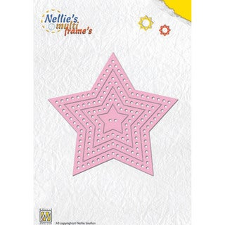 Nellie's Choice Multi Frame Dies-Decorative Star, 7/Pkg