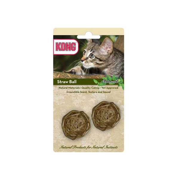 Kong Natural Straw 2 Ball Pack