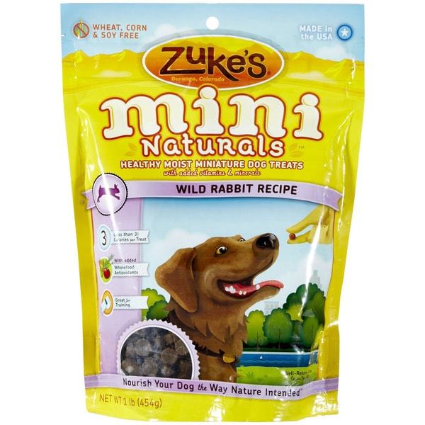 Zuke's Mini Naturals Wild Rabbit Healthy Moist 16-ounce Dog Treats