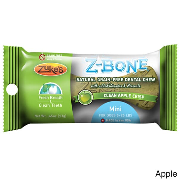 Zuke's Mini Z-Bones Natural Edible Dental Chews Single