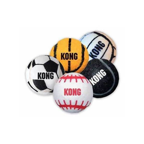 Kong Assorted Medium Pet Sports Balls (Pack of 3)