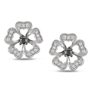 Haylee Jewels 10k Gold 1/4ct TDW Black and White Diamond Earrings (H-I, I2-I3)