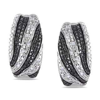 M by Miadora Sterling Silver 1/10ct TDW Diamond Cuff Earrings (H-I, I2-I3)