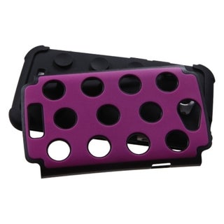 ASMYNA Hot Pink/ Black Dots Case for HTC One X/ One X+