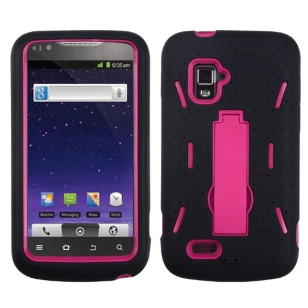 ASMYNA Hot Pink/ Black Case for ZTE N910 Anthem 4G
