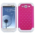 ASMYNA Hot Pink/ White Case for Samsung Galaxy S III/ S3