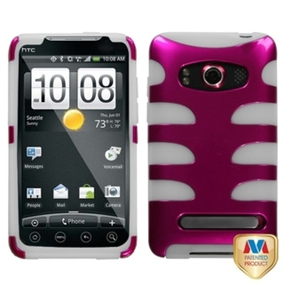 MYBAT Hot Pink/ Clear Fishbone Case for HTC EVO 4G