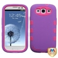 MYBAT Blush/ Purple Hybrid Case for Samsung Galaxy S III/ S3