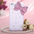 MYBAT Pink Bow Pearl Diamante Case for Apple iPhone 5