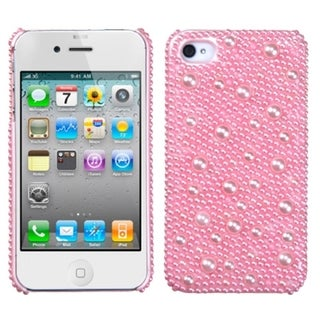 MYBAT Pink Pearl Diamante Case for Apple iPhone 4/ 4S