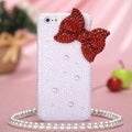 MYBAT Red Bow Pearl Diamante Case for Apple iPhone 5