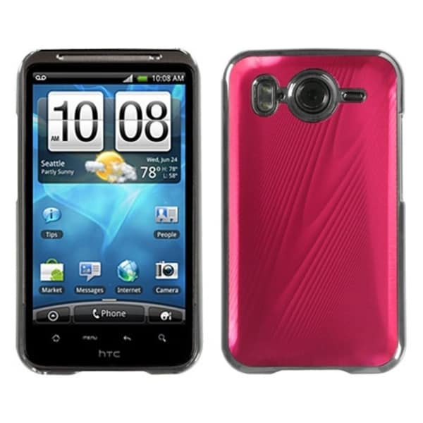 INSTEN Red Brushed Metal Case Cover for HTC Inspire 4G
