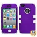 MYBAT Grape/ White Hybrid TUFF Case for Apple iPhone 4/ 4S