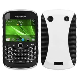 ASMYNA White/ Black Mixy Case for Blackberry Bold 9930/ 9900