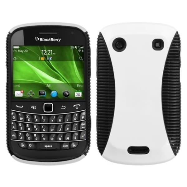 ASMYNA White/ Black Mixy Case for Blackberry Bold 9930/ 9900