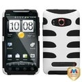 MYBAT Ivory White/ Black Fishbone Case for HTC EVO 4G