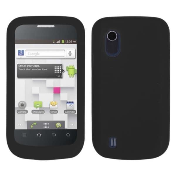 INSTEN Black Phone Case Cover for ZTE V768 Concord