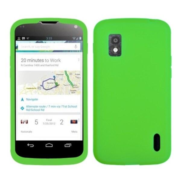MYBAT Electric Green Case for LG E960 Nexus 4