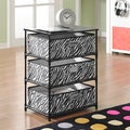 Altra Zebra 3-bin Storage End Table