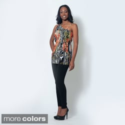 Women's 'Dorothy' Snake Print One-shoulder Top