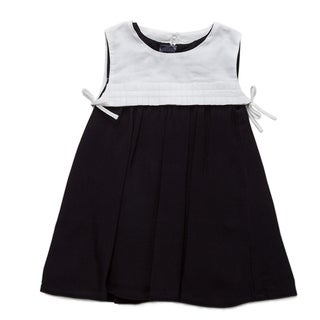 Burberry Girl's Navy and White Smocked Dress