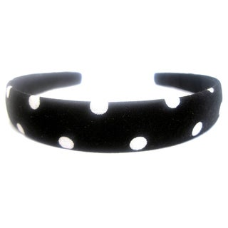 Crawford Corner Shop Black White Polka Dot Headband