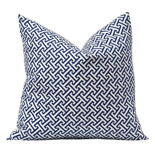 Erin Blue Geometric Decorative Pillow