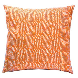 Cameron Orange Geometric Decorative Pillow