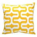 Elisabeth Michael Cornflower Geometric Decorative Pillow