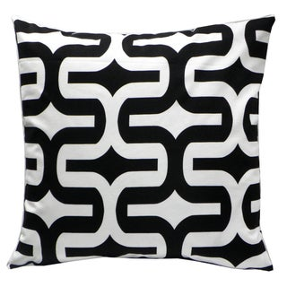 Black/ White Geometric Decorative Down Pillow