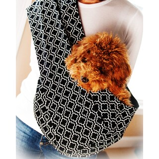 Pet Slings Metro Black Reversible Pet Sling